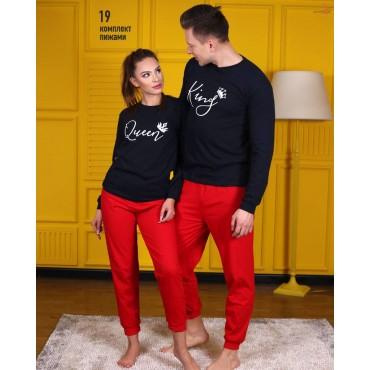 Модел 19-единична мъжка пижама горнище и долнище