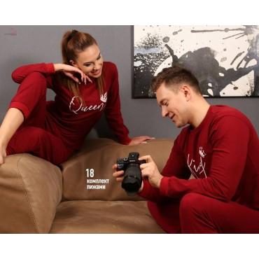 Модел 18-единична мъжка пижама горнище и долнище