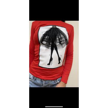 Блуза с 3D апликация и камъни, универсален размер