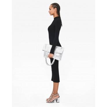 Дълга черна рокля, размер М, BERSHKA