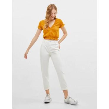 Блузка с копчета и къс ръкав, размер S