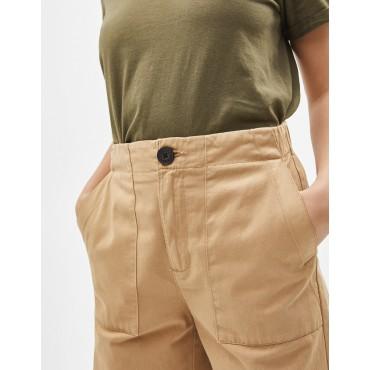 Дамски панталон 7/8, с джобове и широки крачоли, номер 40