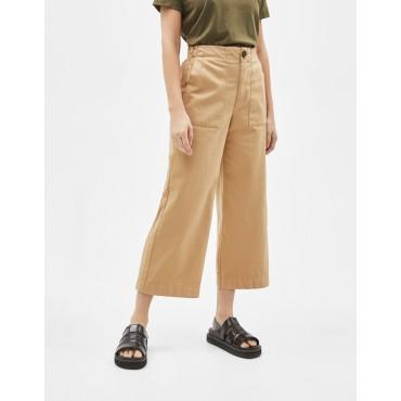 Дамски панталон 7/8, с джобове и широки крачоли, номер 40, BERSHKA