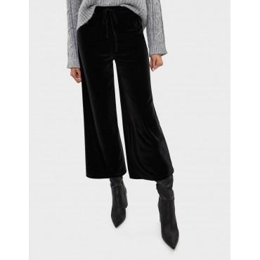 Дамски панталон 3/4 с широки крачоли, размер S