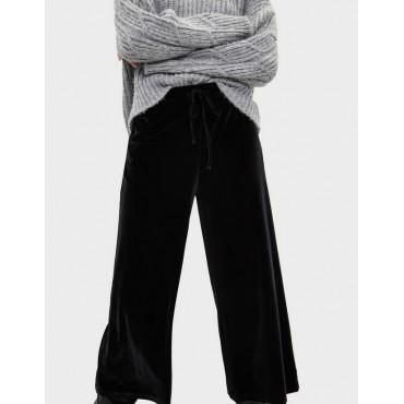 Дамски панталон 3/4 с широки крачоли, размер S, BERSHKA