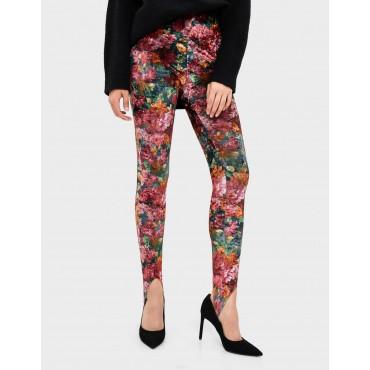 Дамски клин-панталон с флорални мотиви