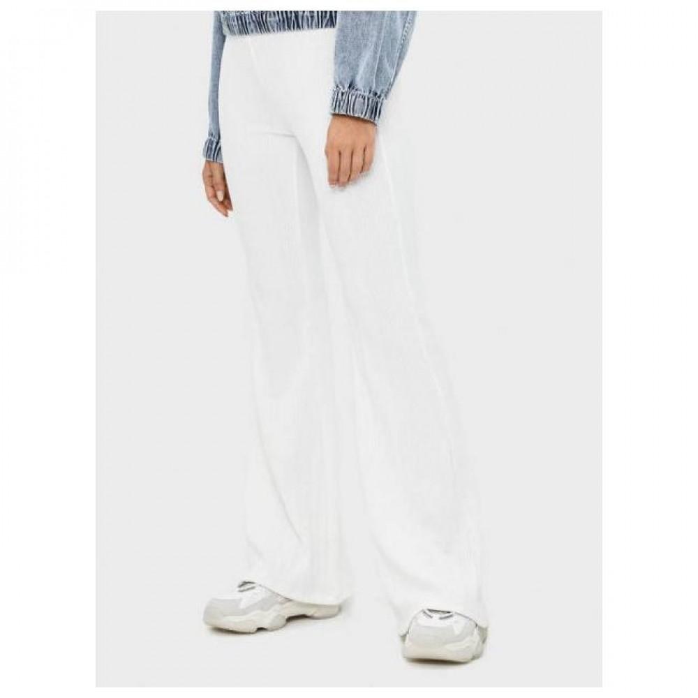 Дамски панталон, рипс, с широки крачоли, BERSHKA