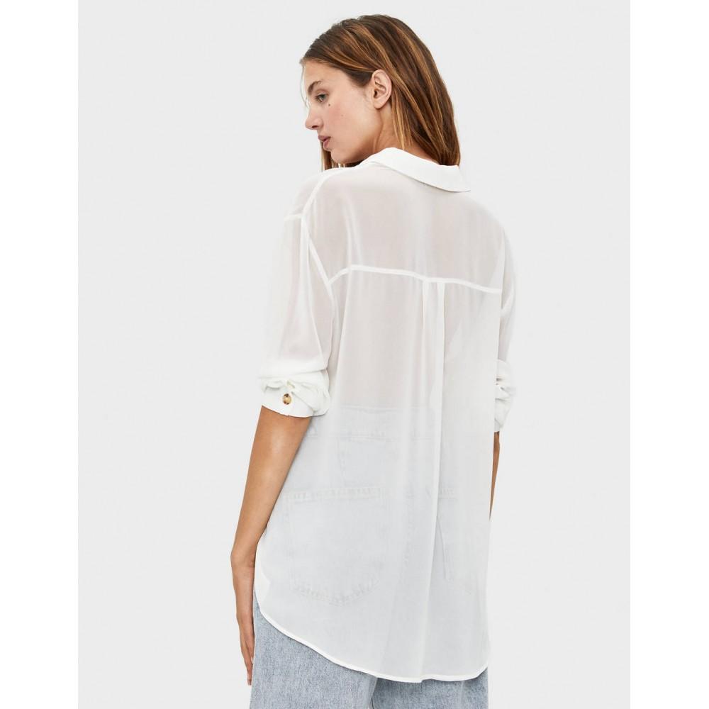 Риза с дълъг ръкав, BERSHKA