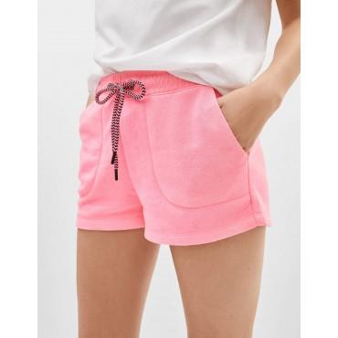 Къси панталонки с шнур, размер S, BERSHKA
