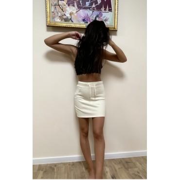 Къса спортна пола с апликация, размер S, BERSHKA