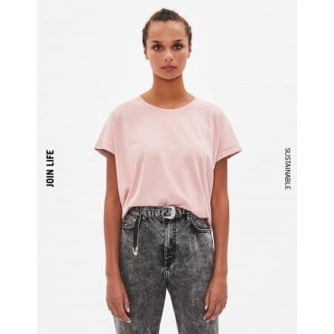 Дамска тениска, тип Boxy T-shirt, BERSHKA