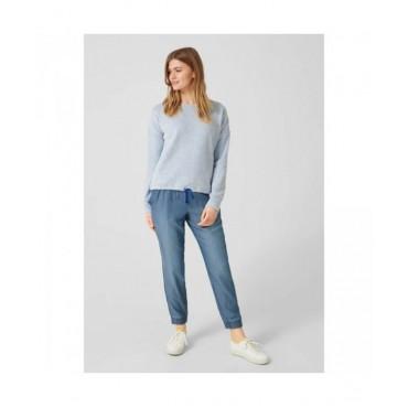 Дамски пуловер с шнур в подгъва,Q/S, размер М, S.OLIVER