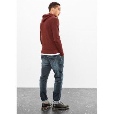 Кафяв мъжки пуловер с качулка,Q/S, размер L, S.OLIVER