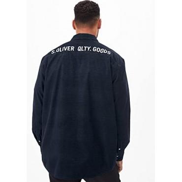Мъжка  тъмносиня риза, размер 3XL