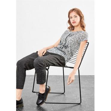 Дамска тениска N. Y., Q/S, сива, размер XS