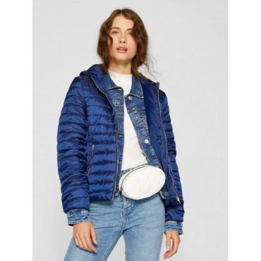 Дамско късо синьо яке, размер XS, STRADIVARIUS