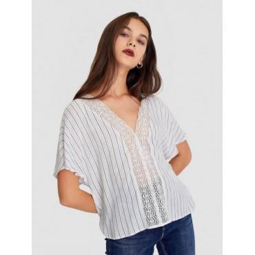 Дамска блузка с къси ръкави, размер М