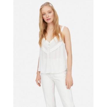 Дамска къса блузка с широки презрамки, размер М