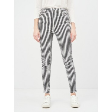 Дънков панталон, райе, slim fit, номер 44, STRADIVARIUS