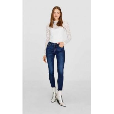Дамски сини дънки, номер 34, STRADIVARIUS