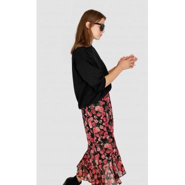 Дамска пола с волан, размер XS, STRADIVARIUS
