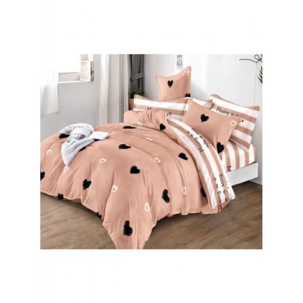 Двулицев спален комплект с ластик, 6 части