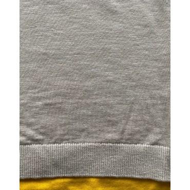Стилен мъжки пуловер, с красив жълт акцент, размер М